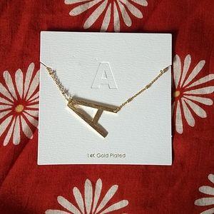 Francesca's 14K Gold Plated 'A' Necklace